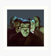 Gang of Monsters  Art Print