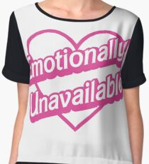 Emotionally Unavailable Women's Chiffon Top