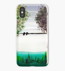 Scrubbing brush trees iPhone Case