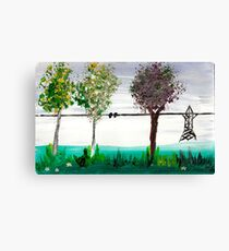 Scrubbing brush trees Canvas Print