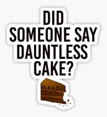Dauntless Cake Sticker