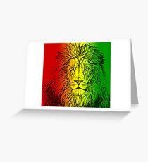 Rasta Lion numero uno Greeting Card