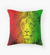 Rasta Lion numero uno Throw Pillow