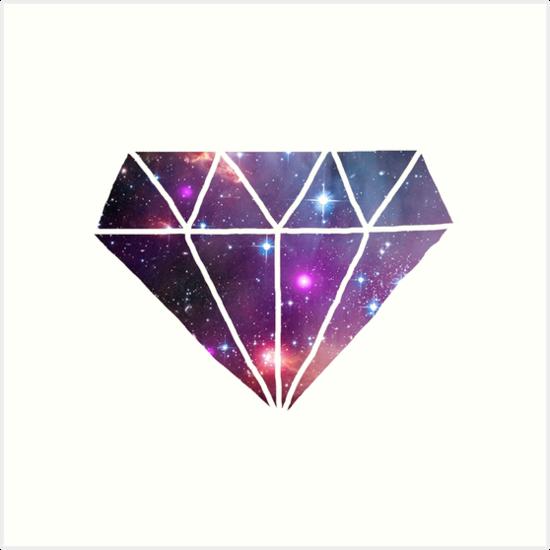 quottumblr style galaxy diamondquot art prints by poppetini