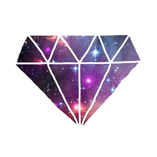 Quot Tumblr Style Galaxy Diamond Quot Poster By Poppetini Redbubble
