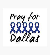 Pray for Dallas Photographic Print