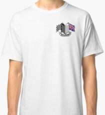 Triumph Shield with Checkered Racing and British Flag Classic T-Shirt