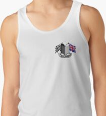 Triumph Shield with Checkered Racing and British Flag Men's Tank Top