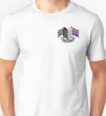 Triumph Shield with Checkered Racing and British Flag Unisex T-Shirt