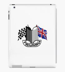 Triumph Shield with Checkered Racing and British Flag iPad Case/Skin