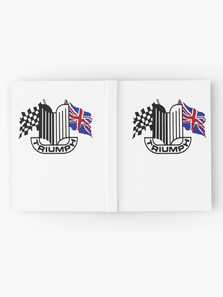 Alternate view of Triumph Shield with Checkered Racing and British Flag Hardcover Journal
