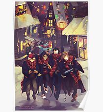 Moony, Wormtail, Padfoot and Prongs Poster