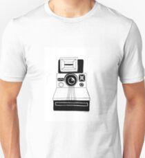 Polaroid Camera: Black and White T-Shirt