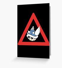 Danger Blue Shell Greeting Card