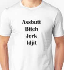 Supernatural (Assbutt, Jerk, Bitch, Idgit) T-Shirt