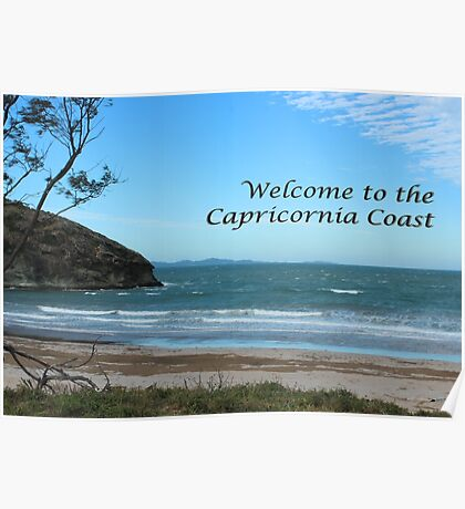 Windy Welcome to Capricornia Coast Poster