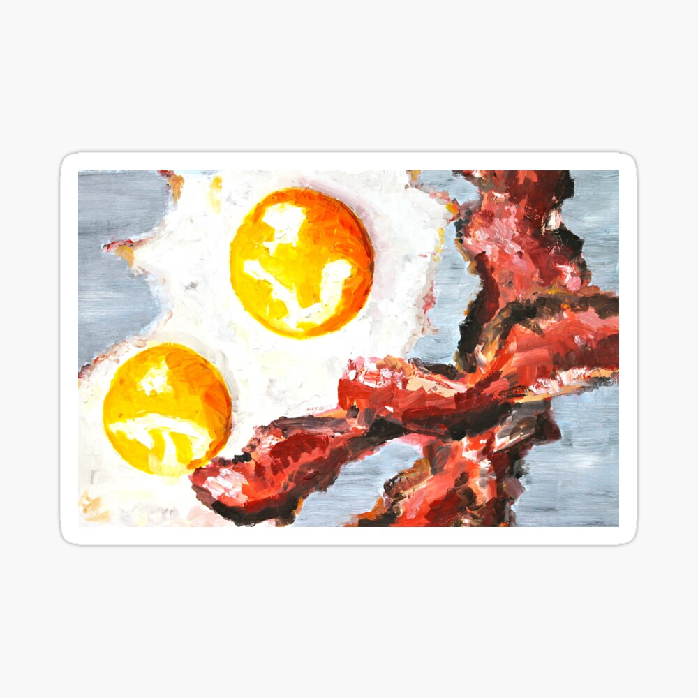 Eggs and Bacon Painting Sticker