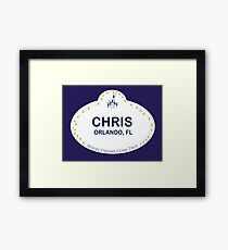 Chris From Orlando Framed Print