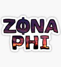 Zona Phi Sunset Sticker