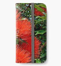 New Zealand Christmas tree flowers iPhone Wallet/Case/Skin