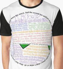 Hitchhiker's Guide Marvin Quotes Graphic T-Shirt