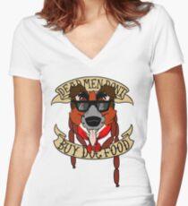 Dead Men Don't Buy Dog Food Women's Fitted V-Neck T-Shirt
