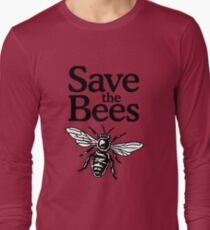 Save The Bees Beekeeper Quote Design Long Sleeve T-Shirt