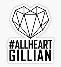 #AllHeartGillian - Wire on Black  Sticker