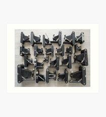 Folding Cameras Art Print