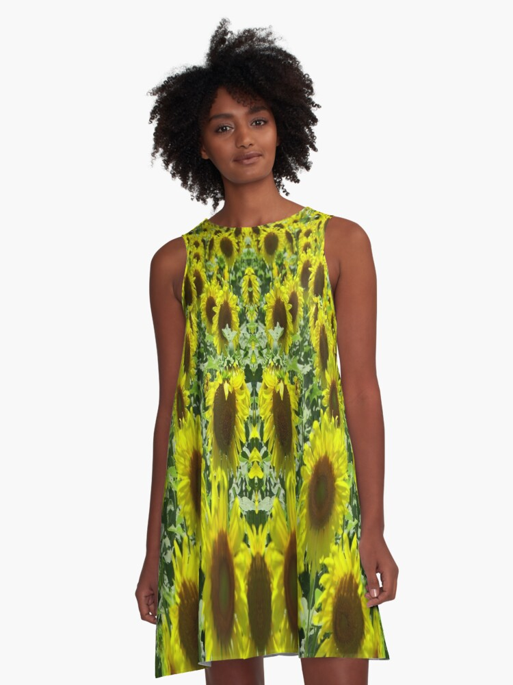 Field Full of Sunshine A-Line Dress Front