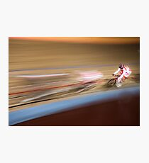 Track Zooming Photographic Print