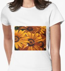 Seeing Orange ~ Africian Daisies Women's Fitted T-Shirt