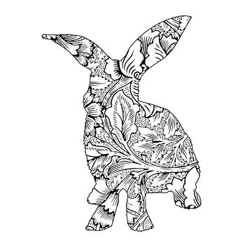 Floral Bunny  by Movement
