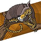 Mutant Zoo - Jaguarmadillo by dezignjk