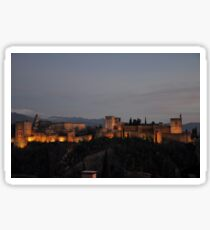 The Alhambra -Granada, Spain Sticker