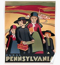 Rural Pennsylvania Vintage Travel Poster Poster