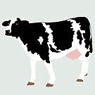 Black and White Cow by kreativekate