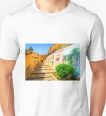 Houses painted on in Xixona Unisex T-Shirt