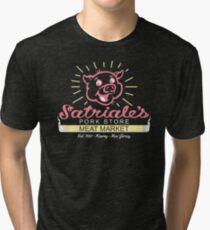 Satriale's - Red Piggy Logo Tri-blend T-Shirt