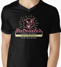 Satriale's - Red Piggy Logo Men's V-Neck T-Shirt