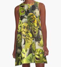 Shrek Collage  A-Line Dress