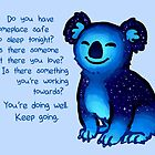"""""""You're Doing Well"""" Galaxy Koala by thelatestkate"""
