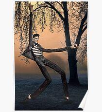 Slender Man Elvis Poster
