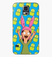 Louise Belcher Light Pattern Blue Case/Skin for Samsung Galaxy