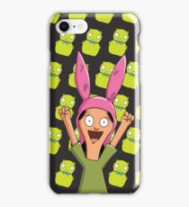 Louise Belcher Light Pattern Black iPhone Case/Skin