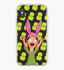 Louise Belcher Light Pattern Black iPhone Case