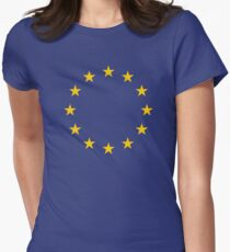 EU Flag Womens Fitted T-Shirt