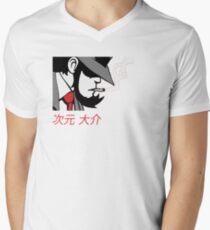 jigen Mens V-Neck T-Shirt