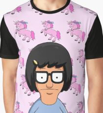 Tina Belcher Unicorn Pattern Pink Graphic T-Shirt
