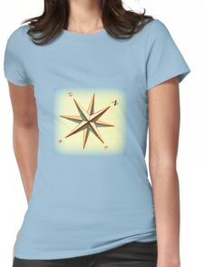 Ship's compass Womens Fitted T-Shirt